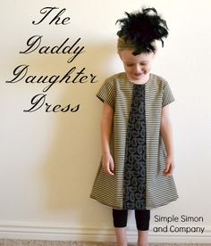 $5 Friday: The Daddy Daughter Dress OR The Stolen Tie Tutorial | Simple Simon and Company