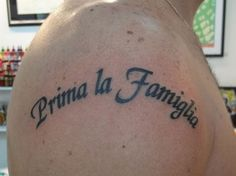 69 Meaningful Family Tattoos Designs Mens Craze Hi Here we have good wallpaper about italian tattoo phrases about family. Matching Family Tattoos, Family Name Tattoos, Family Tattoos For Men, Meaningful Tattoos For Family, Family First Tattoo, Family Tattoo Designs, Phrase Tattoos, Tattoos For Kids, Tattoo Designs Men