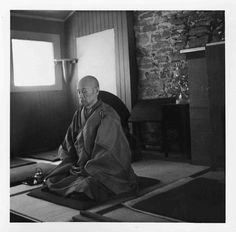 Shunryu Suzuki Roshi in meditation (via Zen Poems, Haiku & Writings)