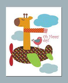 8x10 inch. Nursery Art Print Nursery Decor Kids Wall Art. Oh Happy  day on Etsy, R$27,50