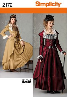 Steampunk pattern.  Not sure about the skirt, but the jacket could be good.  the bodice could match the groom's party vests.  Ruffle the tardis blue rest is black (?)