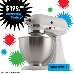 Get this KitchenAid mixer at a Black Friday price. Shop online now!