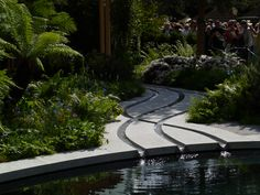 I love the criss-crossing streams in this show garden from the Chelsea Flower Show 2011