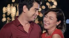 """This is the handsome Ian Veneracion and the pretty Jodi Sta. Maria sharing a laugh with each other during the taping of the ABS-CBN 2015 Christmas Station ID, """"Thank You for the Love!"""" Indeed, Ian and Jodi are a perfect loveteam. Ian Veneracion, Half Filipino, Enrique Gil, Daniel Padilla, Star Magic, Liza Soberano, Kathryn Bernardo, Nadine Lustre"""