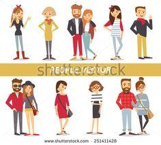 People Illustration Stock Vectors & Vector Clip Art   Shutterstock