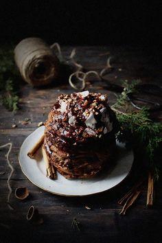 Cinnamon Hazelnut Oatmeal Pancakes | Christmas Desserts