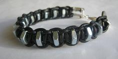 Mens leather hardware bracelets - Google Search