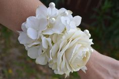 Excited to share this item from my shop: Ivory Pearl Hydrangea Corsage, Si. Excited to share Sunflower Bridesmaid Bouquet, Silk Bridal Bouquet, Silk Wedding Bouquets, Corsage Wedding, Vintage Wedding Flowers, Boho Wedding, Hydrangea Corsage, Wedding Wristlets, Homecoming Corsage
