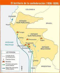 batallas confedereacion peru bolivia mapa