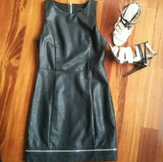 F21 | Black Faux leather dress Sexy little black dress in faux leather and visible silver zipper on back and  hem. Just gorgeous!! Thanks for visit my closet!     ▶Condition: Good, Very little use.    ▶No trades    ▶Ask any questions :) Forever 21 Dresses Mini