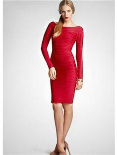 fashion off-the-shoulder long sleeves column zipper-up cocktail dress