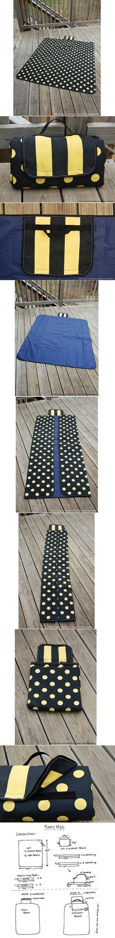 DIY Picnic Mat DIY Picnic Mat. Maybe my mom can make for me since I don't sew.