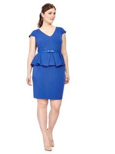 City Chic   Fold Front Peplum Dress   Gwynnie Bee