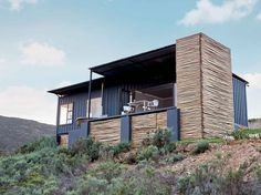 Shipping Container Homes: Copia Eco Cabins: Two 40 ft Container Home in Bot Rivier valley by Berman-Kalil, South Africa Container Buildings, Container Architecture, Architecture Design, Sustainable Architecture, Container Home Designs, Shipping Container House Plans, Shipping Containers, Eco Cabin, Design Food