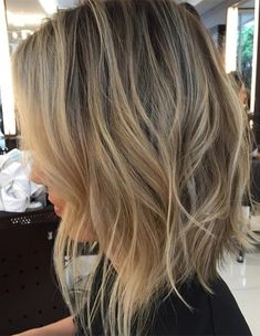 Shaggy Angled Bob Hairstyles 2018 with Tousled Waves