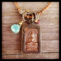 Buddha gem necklace