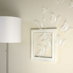 Abstract dark tree butterfly wall stickers decals art for for Decozilla wall art