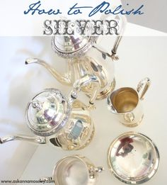 A Quick Tip for Cleaning Silver  - Baking Soda, Foil, Hot Water. Really great tips I have a full silver tea set with the tray and it is soooo hard to get them clean!