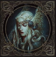 Valkyrie, Michael C. Valkyrie Norse Mythology, Norse Goddess, Norse Runes, Norse Pagan, Vikings, Mythological Characters, Girl Face Drawing, Nordic Tattoo, She Wolf