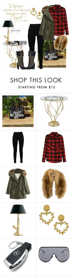 """Untitled #136"" by slaymeunique ❤ liked on Polyvore featuring Regina-Andrew Design, J Brand, WithChic, NLY Accessories, Flos, Vintage, Mercedes-Benz, Rick Owens, Nexus and Chanel"