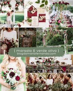 burgundy and greenery wedding color ideas Unique Wedding Colors, Summer Wedding Colors, Unique Weddings, Summer Weddings, Green And Burgundy Wedding, Purple Wedding, Burgundy Color, Theme Color, Wedding Color Schemes