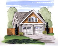 Craftsman   Traditional   Garage Plan 44152