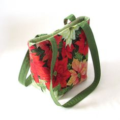Poinsettia Small Tote Bag by ColleensDesigns on etsy