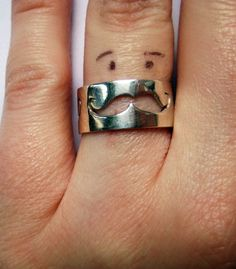 I could get a tan and have a Mustache Ring TAN!