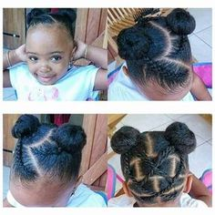 Most up-to-date Pics 60 Braids for Kids: 60 Braid Styles for Girls Ideas Are you currently bored by the old hairstyles of the ponytail? If that's the case, then use Common # cornrows Braids boys Braids for kids Lil Girl Hairstyles, Natural Hairstyles For Kids, Natural Hair Styles For Black Women, Kids Braided Hairstyles, Princess Hairstyles, My Hairstyle, Black Toddler Hairstyles, Short Haircuts, Children Hairstyles