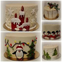 Small christmas cakes by Anka