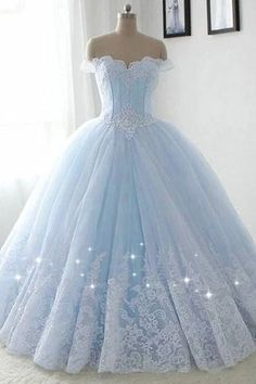Pretty Quinceanera Dresses, Pretty Prom Dresses, Prom Dresses Blue, Elegant Dresses, Sweet 16 Dresses Blue, Formal Dresses, Winter Dresses, Sexy Dresses, Quincenera Dresses Blue