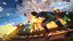 Xbox One Exclusive Sunset Overdrive E3 screenshots