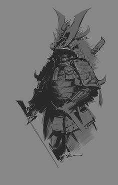 Samurai Sketch, Stuart Kim on ArtStation at https://www.artstation.com/artwork/8klnn