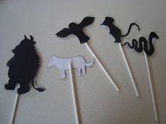 Gruffalo shadow pupets. Stocking stuffer