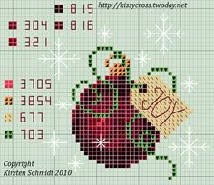 Christmas Ball ornament cross stitch pattern by kissy2169, via Flickr (would be great for ornament)