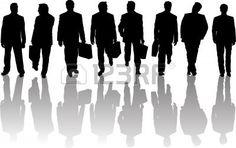 Coleção De Silhuetas Empresariais Pessoas Com Sombras
