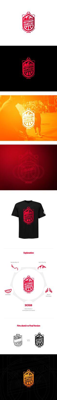 Logo for a professional basketball player Keydren Clark. Esports Logo, Sports Team Logos, Logo Creation, Sports Graphics, Great Logos, Creative Logo, Cool Logo, Identity Design, Graphic Design Inspiration