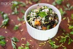 Esta é uma salada de quinoa negra com amaranto, super nutritiva, saborosa, fácil de fazer e é claro que dá pra pra fazer com a quinoa branca e sem amaranto. Garanto que ficará boa.