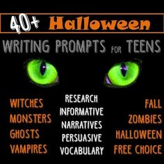 $- Multigenre Halloween writing project: rubric, story starters, AND 40+ prompts for research, informative, creative/narrative, persuasive, and vocabulary! Middle & High School English class