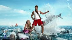 """Watch Rob Lowe ride the backs of two sharks in the funny new video promo for Discovery Channels """"Shark Week"""". Political Images, Funny Commercials, Rob Lowe, Science Articles, Funny New, Keys Art, Great White Shark, Discovery Channel, Shark Week"""