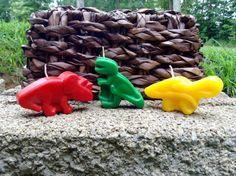 Jumbo Dinosaur birthday candles 6.00 by BabyBearCandles on Etsy