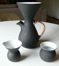 Vtg Kenji Fujita Freeman Lederman Coffee Carafe Creamer Sugar Set Tackett Era   eBay