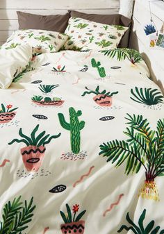 Get Your Chlorophyll Duvet Cover in Full/Queen | Mod Retro Vintage Decor Accessories | ModCloth.com