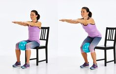 Pain Remedies 5 Best Knee Exercises To Make Walking Less Painful - These exercises strengthen the muscles that support your knees, relieving pain. Knee Strengthening Exercises, Chair Exercises, Knee Stretches, Arthritis Exercises, Knee Arthritis, Pilates, How To Strengthen Knees, Fitness Bodybuilding, Knee Pain Relief