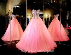 Jewels adorn the bodice on this beautiful pink ball gown! And it's at Rsvp Prom and Pageant, your source for the HOTTEST Prom and Pageant Dresses! Quince Dresses, Pink Prom Dresses, Sweet 16 Dresses, Pageant Dresses, Quinceanera Dresses, Pretty Dresses, Homecoming Dresses, Beautiful Dresses, Evening Dresses