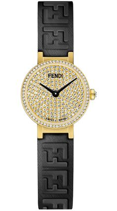 Limited Edition of 50 Pieces - Fendi Forever Yellow Gold Case Diamond Dial Women's Watch - Model - Brand New, Authentic, Original Packaging Brand Name Watches, Top Luxury Brands, Watch Model, Luxury Branding, Fendi, Quartz, Fruit, Crystals, Diamond