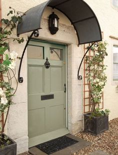 Super Ideas For Front Door Overhang Entrance Modern Entry French Door Decor, French Doors, Front Door Overhang, Front Door Canopy, Metal Awning, Window Awnings, Front Door Colors, Entry Doors, Front Entry