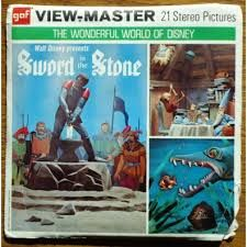 Disney view master sword in the  stone