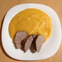 Bravčová panenka so zemiakovo-batatovým pyré