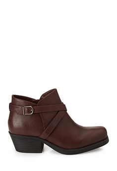 Buckled Moto Booties | Forever 21 - 2000119960